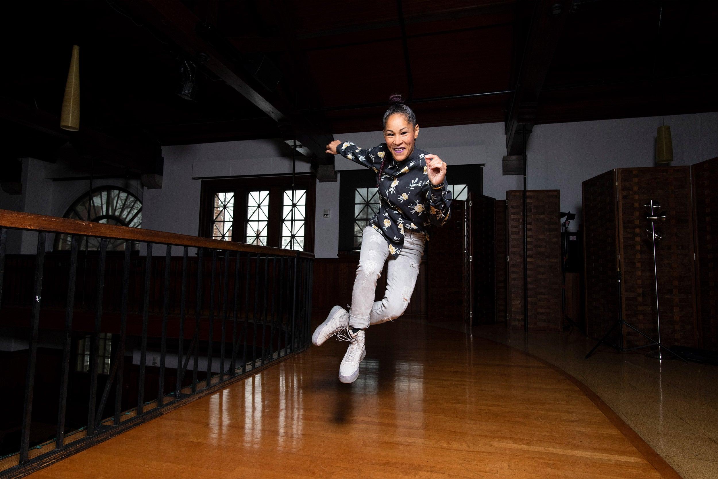 Ayodele Casel dancing.