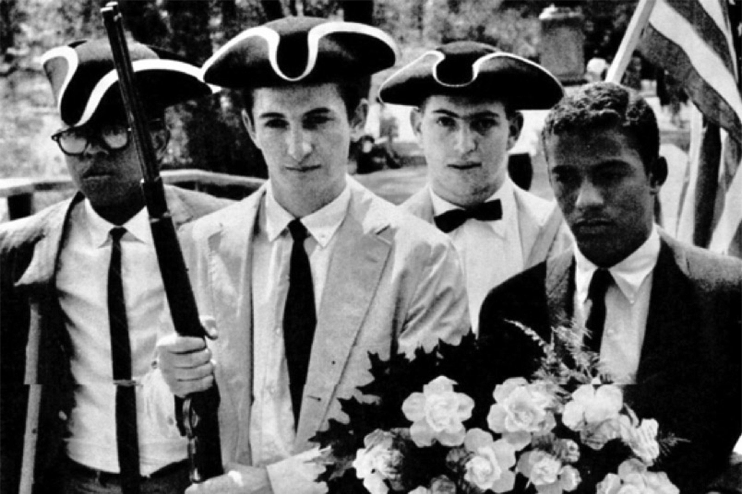 Black and white students as minutemen in 1960.