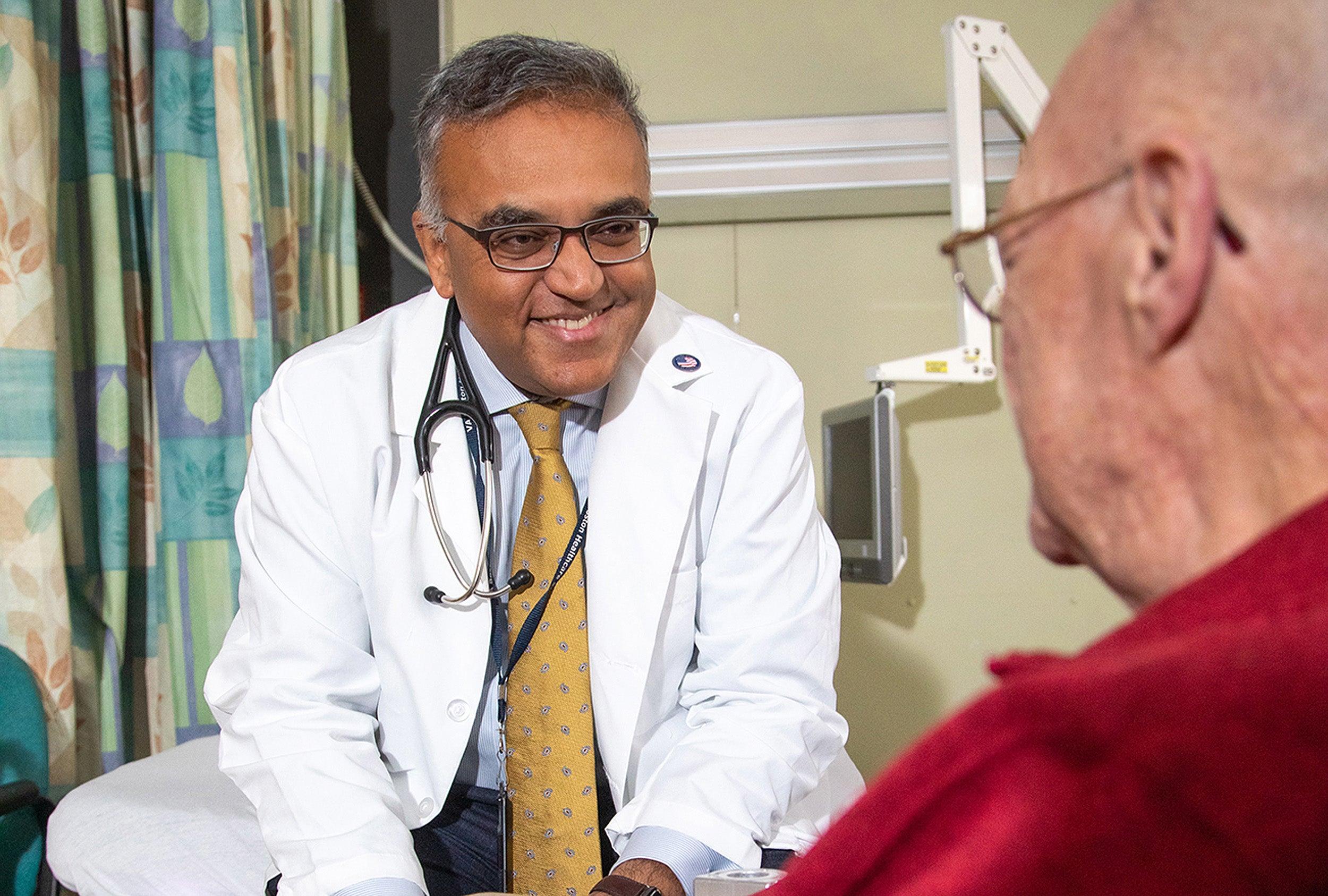 Doctor speaking to patient.
