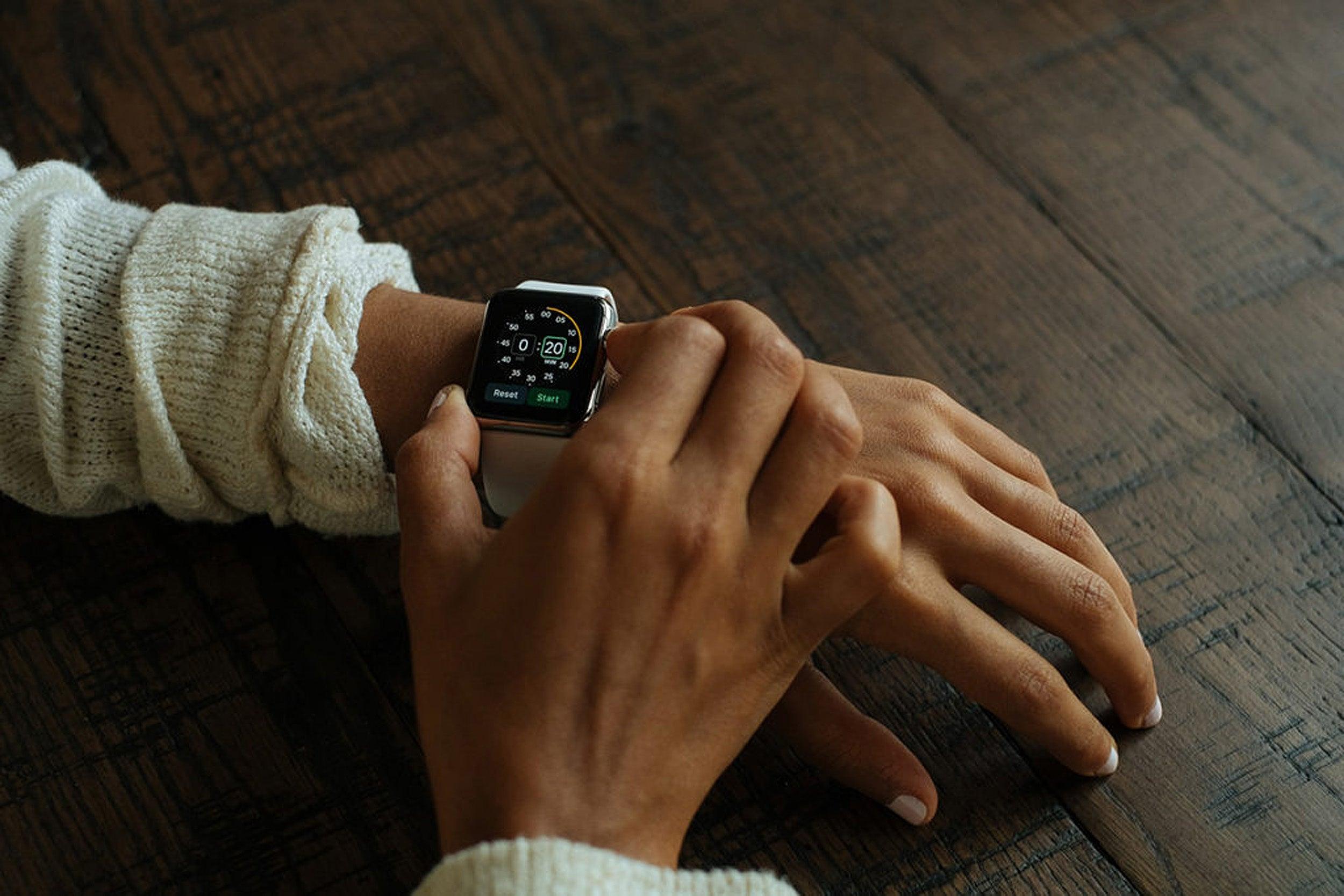 Person wearing watch.