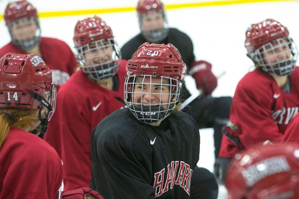 Harvard Women's Ice Hockey team.
