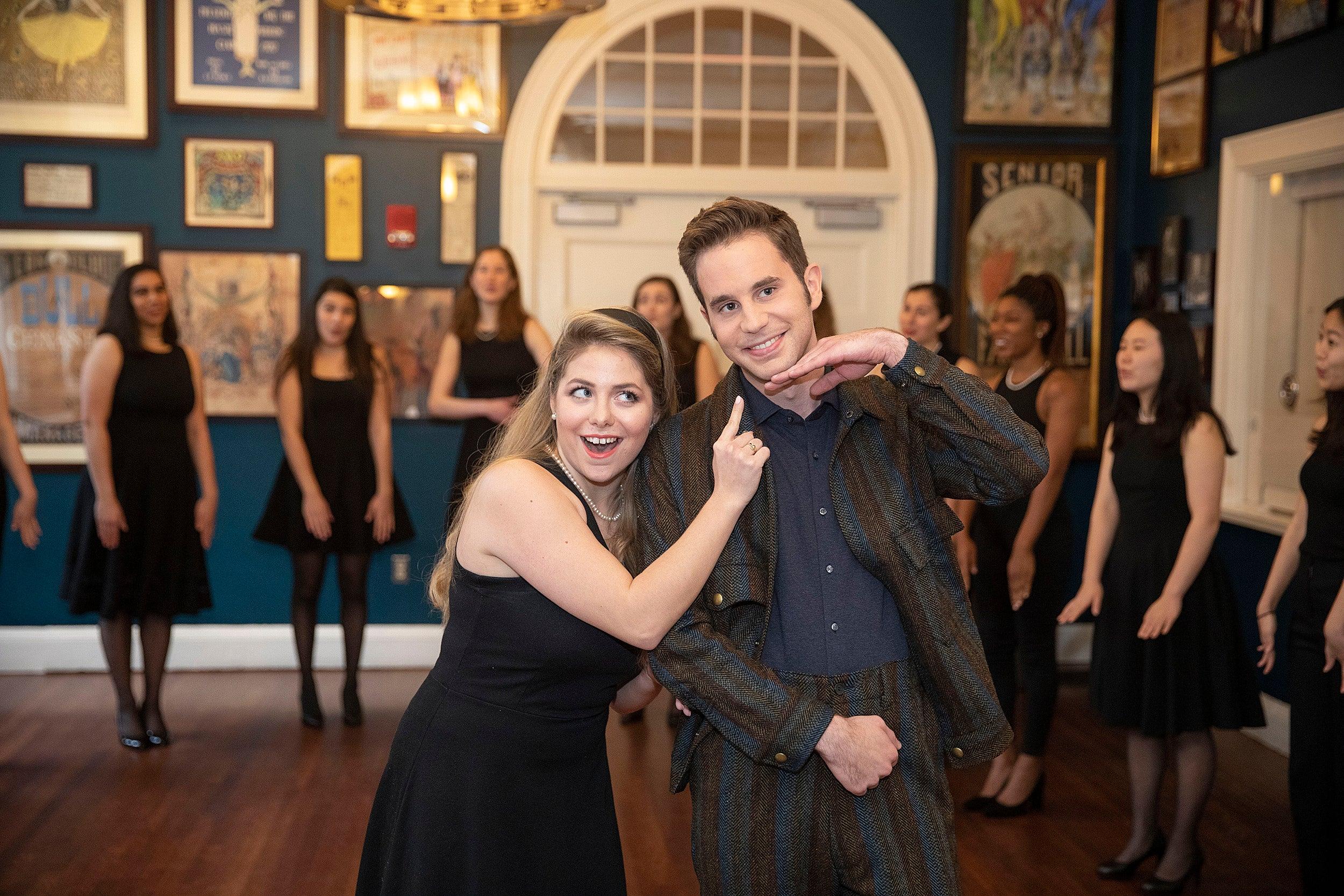 Man of the Year Ben Platt gets a musical tour of Farkas Hall