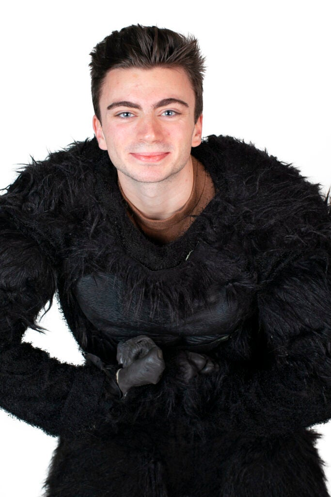 Nick Lore-Edwards dresses as the Gorilla Mascot for Mather House.