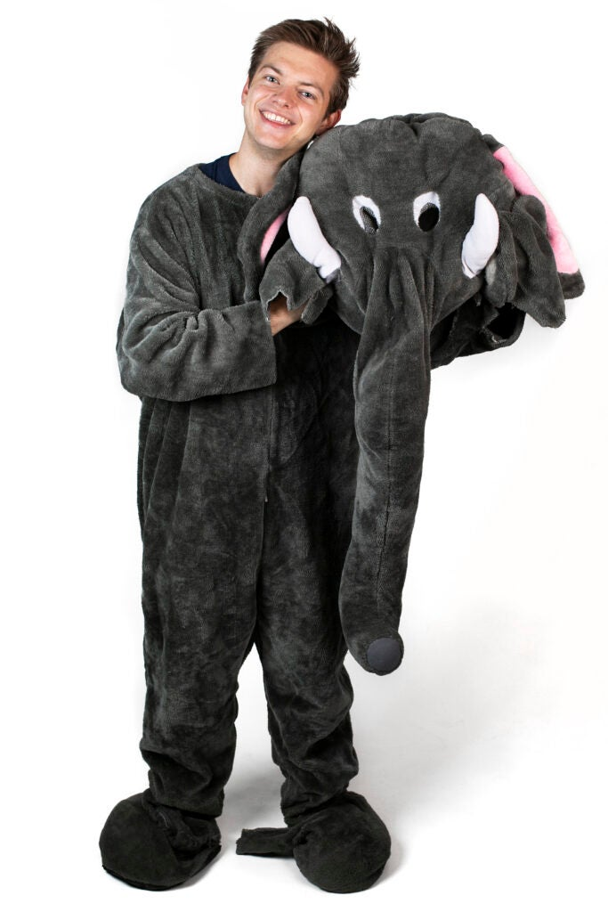 William Flanagan is dressed as an elephant for Eliot House.