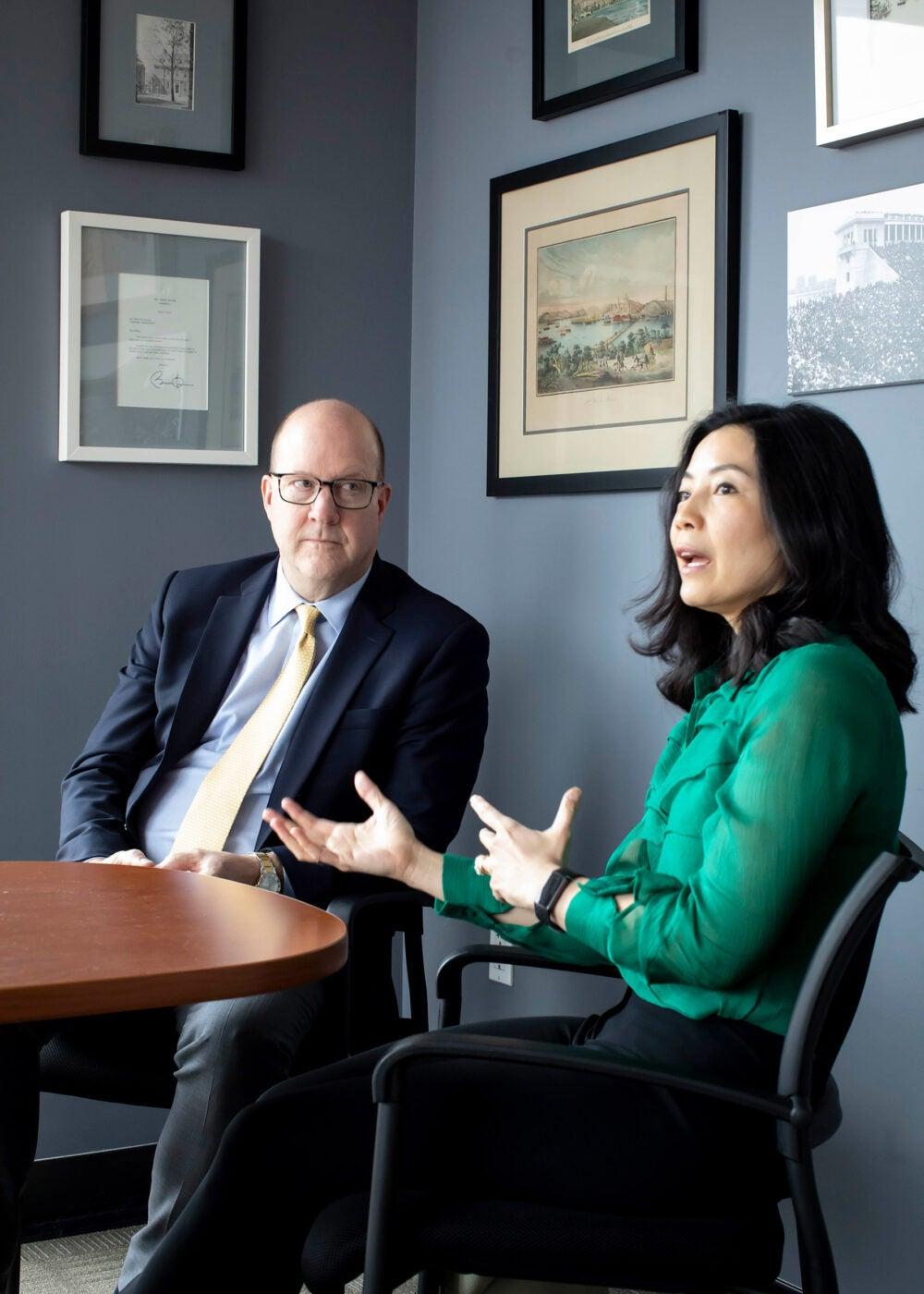 Philip Lovejoy and Tracy Palandjian.