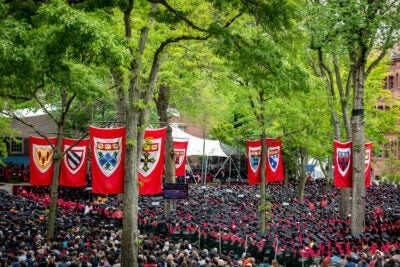 Harvard Yard during Commencement.