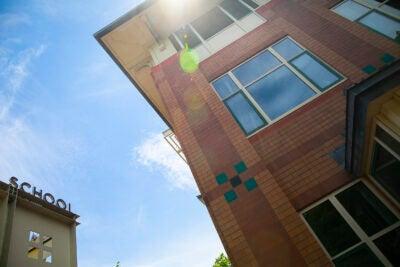 School buildings.