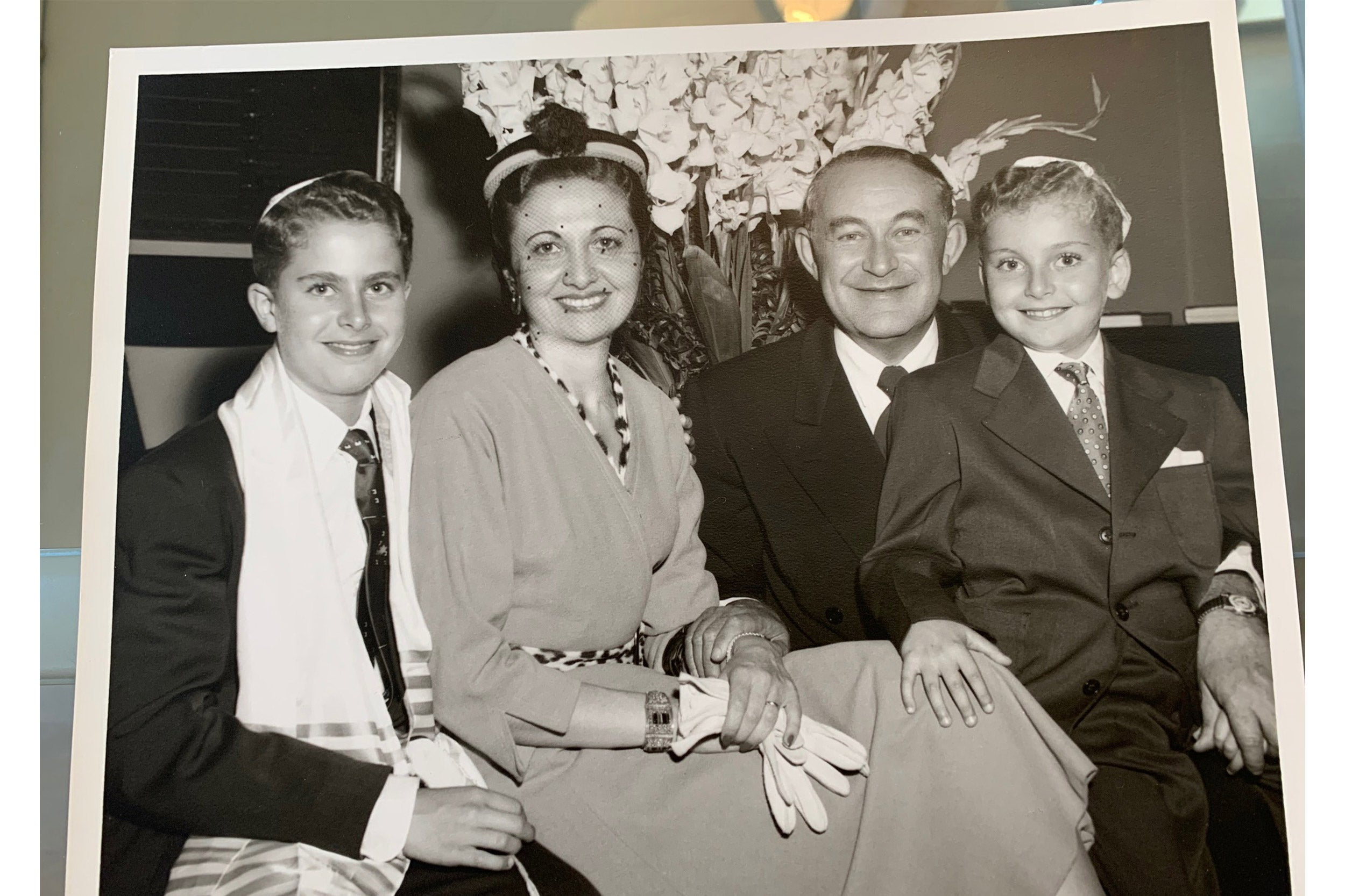 Larry Tribe with his family.