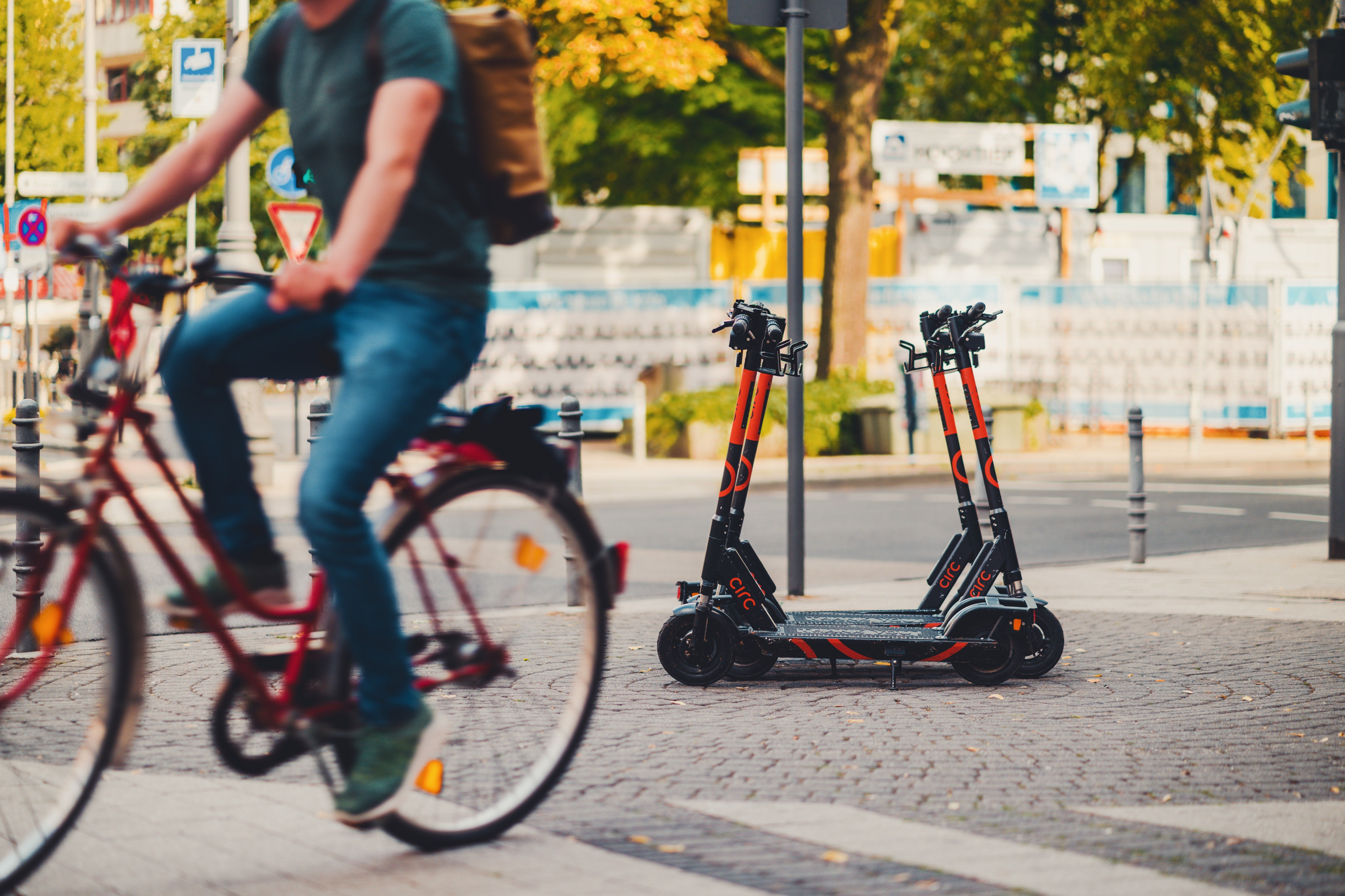 Mobile scooters.