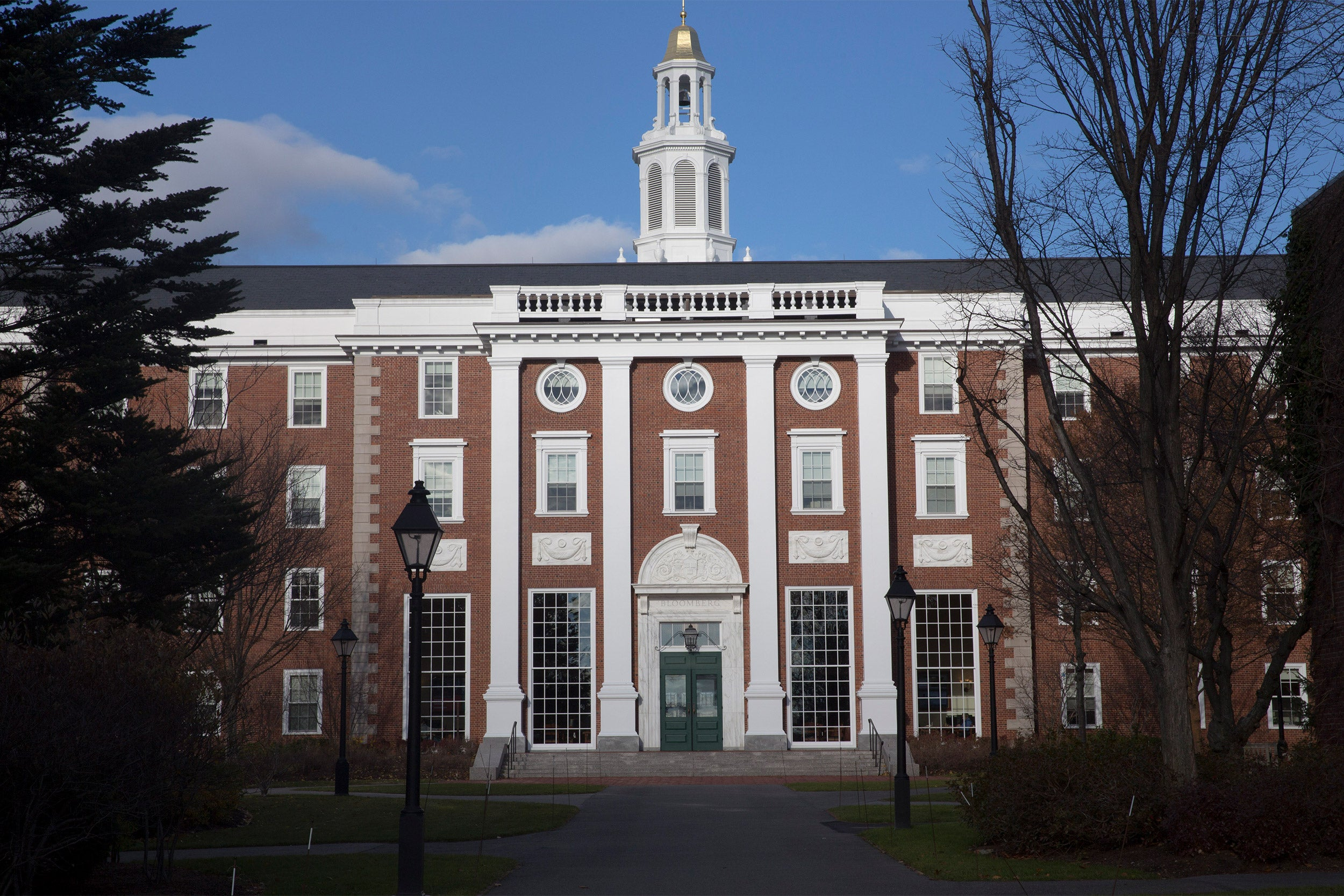 Views of the Baker Library at Harvard Business School.
