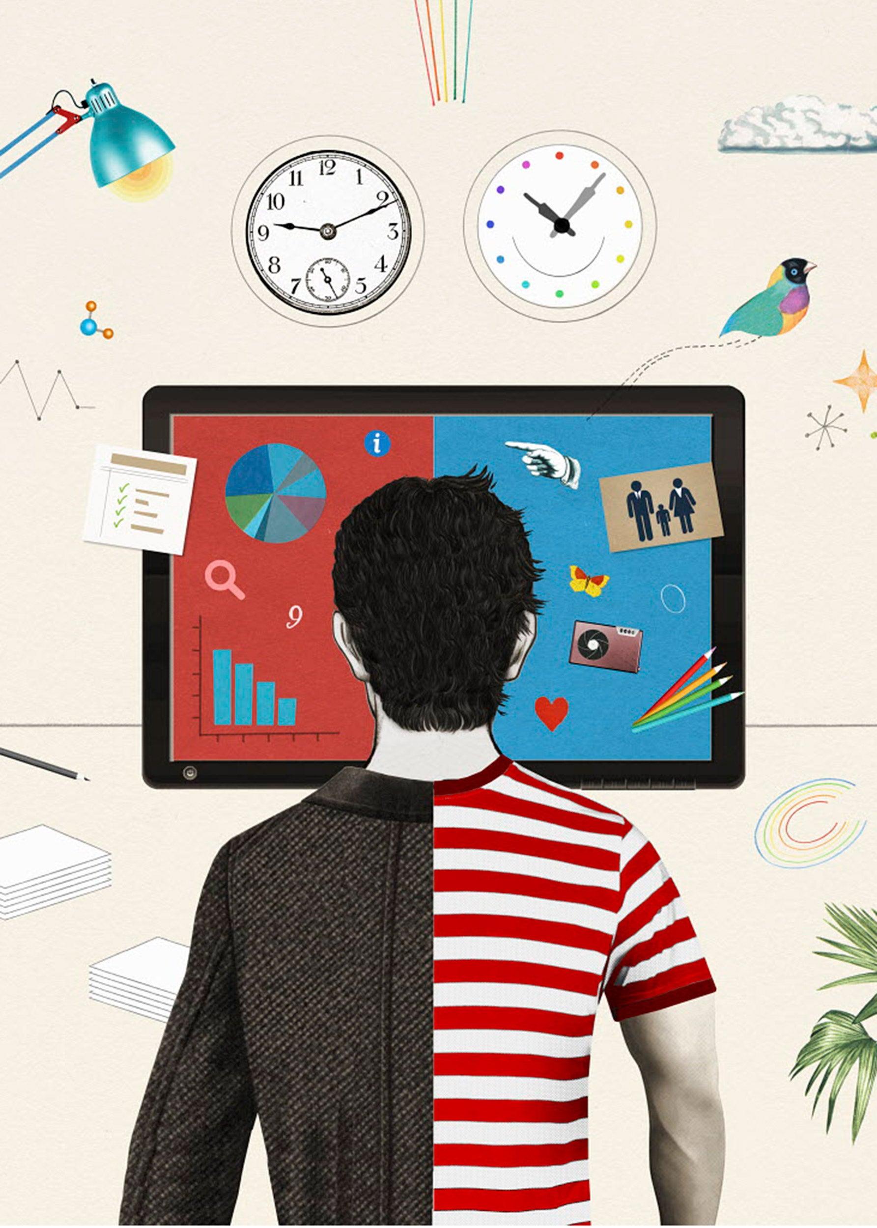 Illustration of work-life balance.