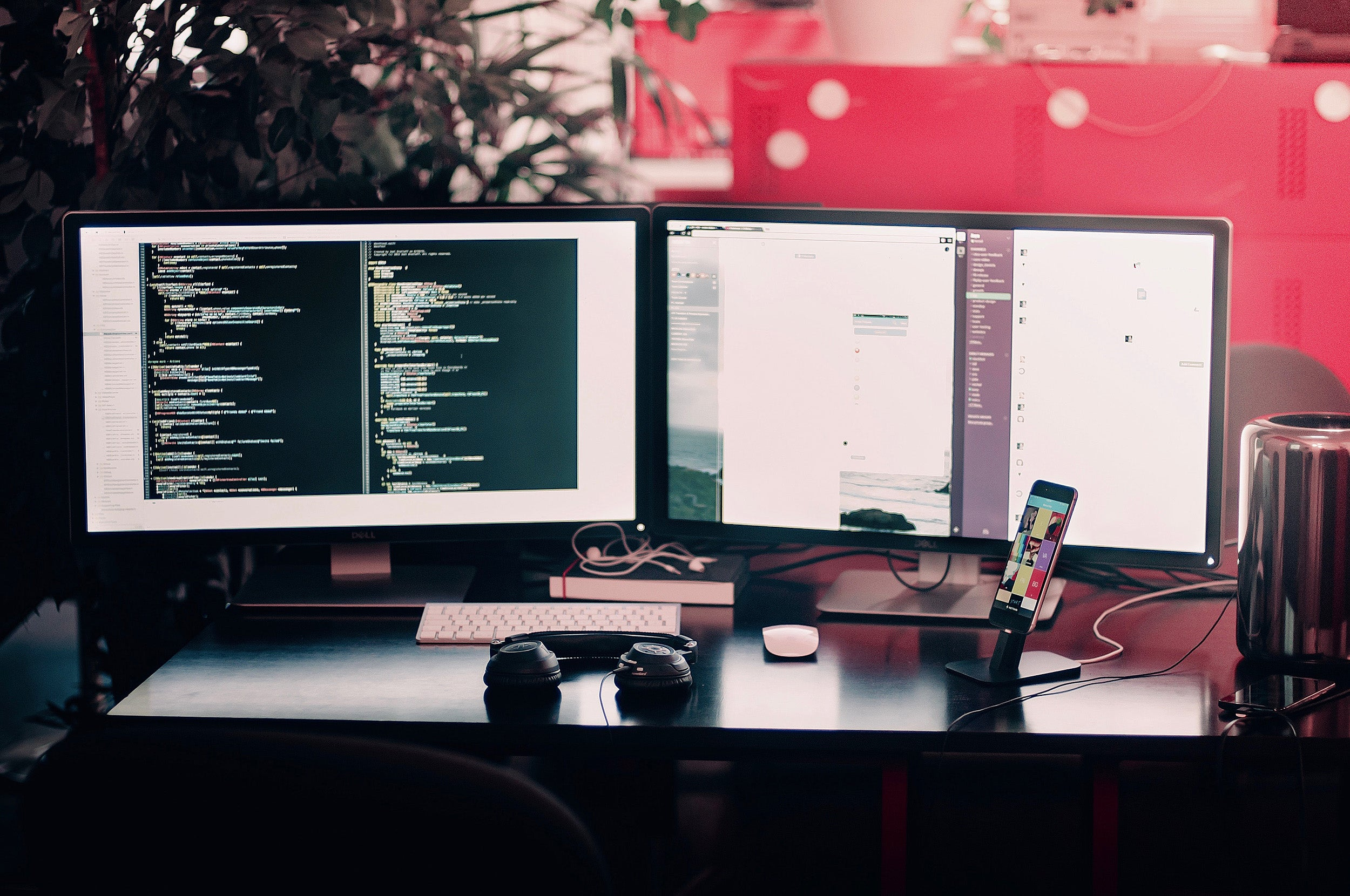 Multiple monitors.