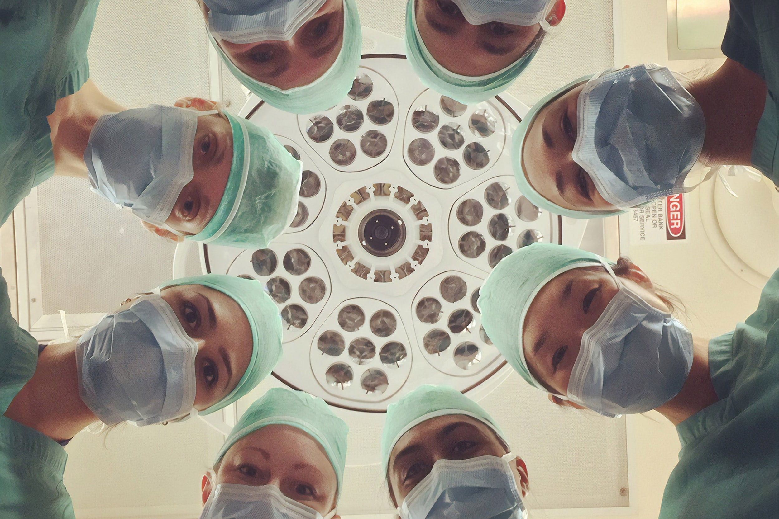 Medical people in masks.