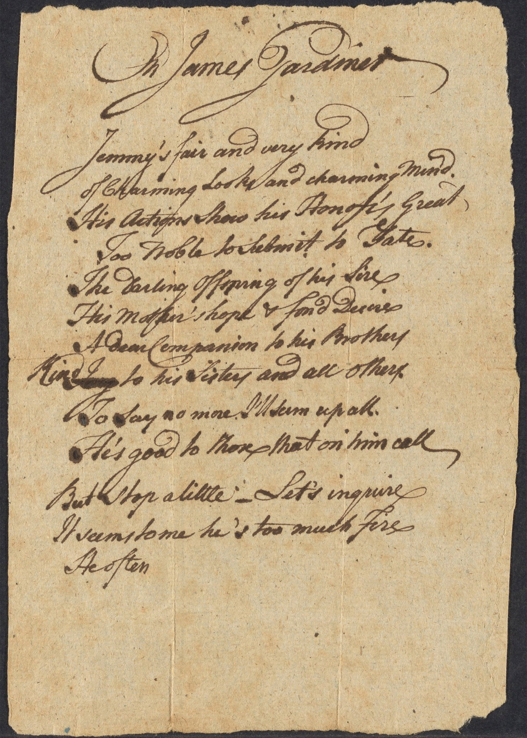 A poem from mid-1700s.