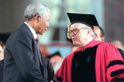 Rick Hunt and Nelson Mandela.