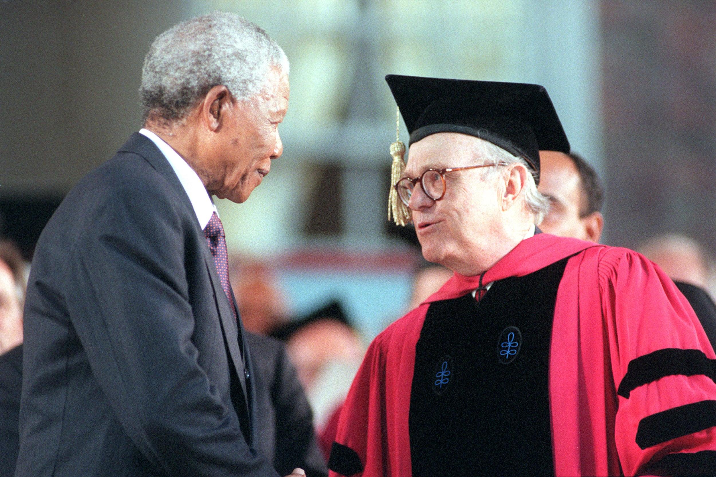 Rick Hunt and Nelson Mandela.