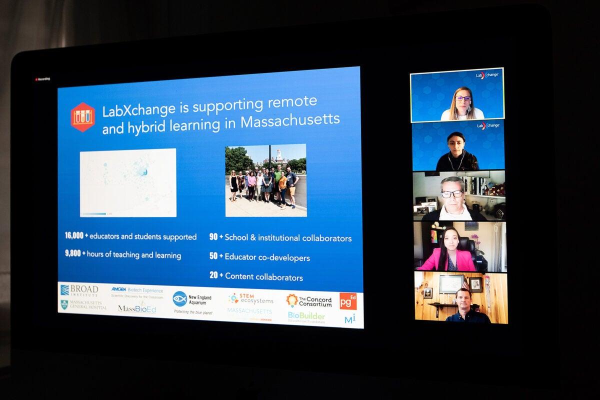 Zoom screen for LabXchange talk.