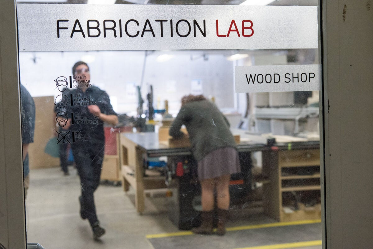 Workers in Fabrication Lab.