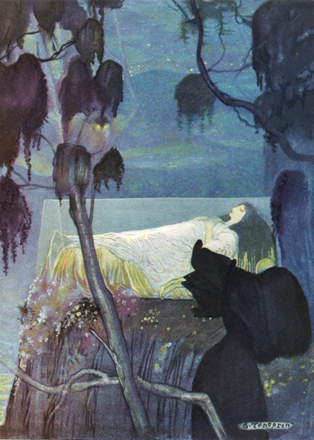 A 1923 illustration of Snow White
