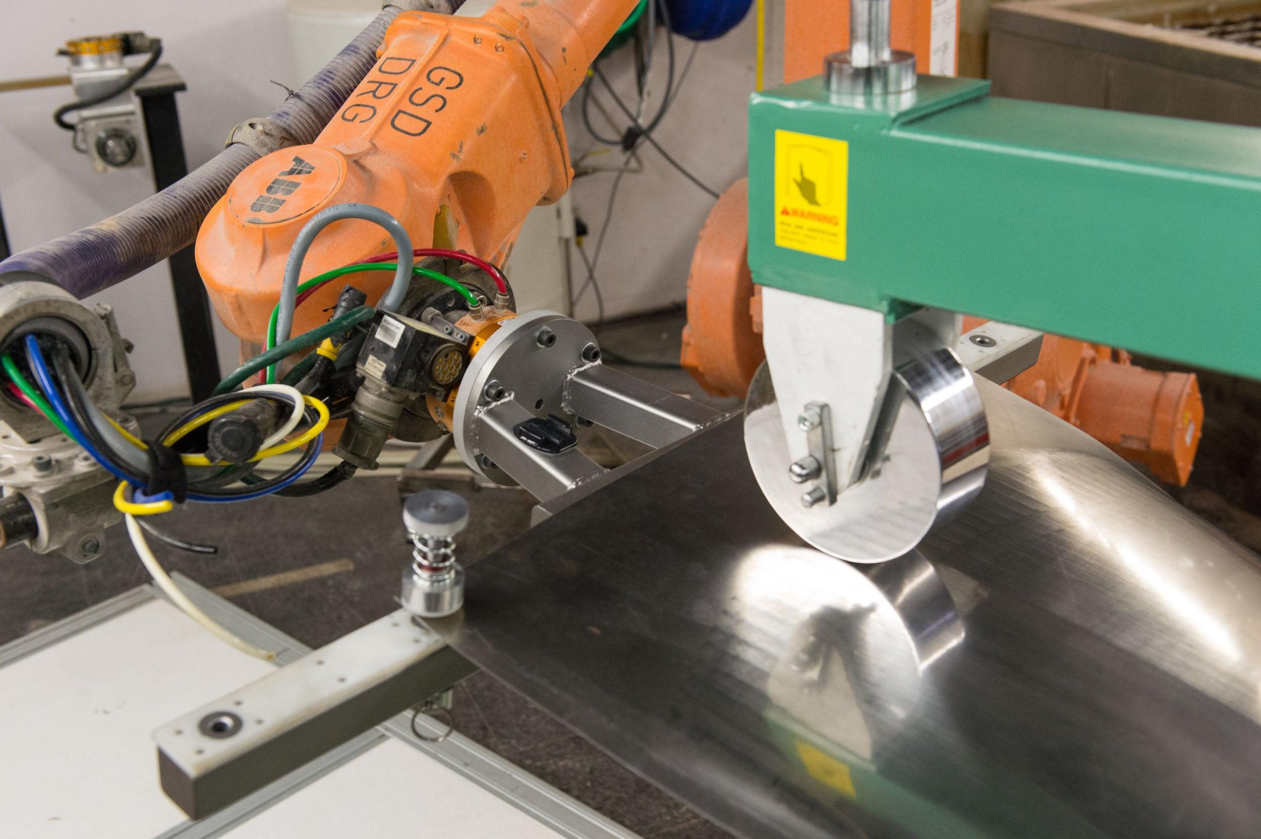 Machinery making masks.