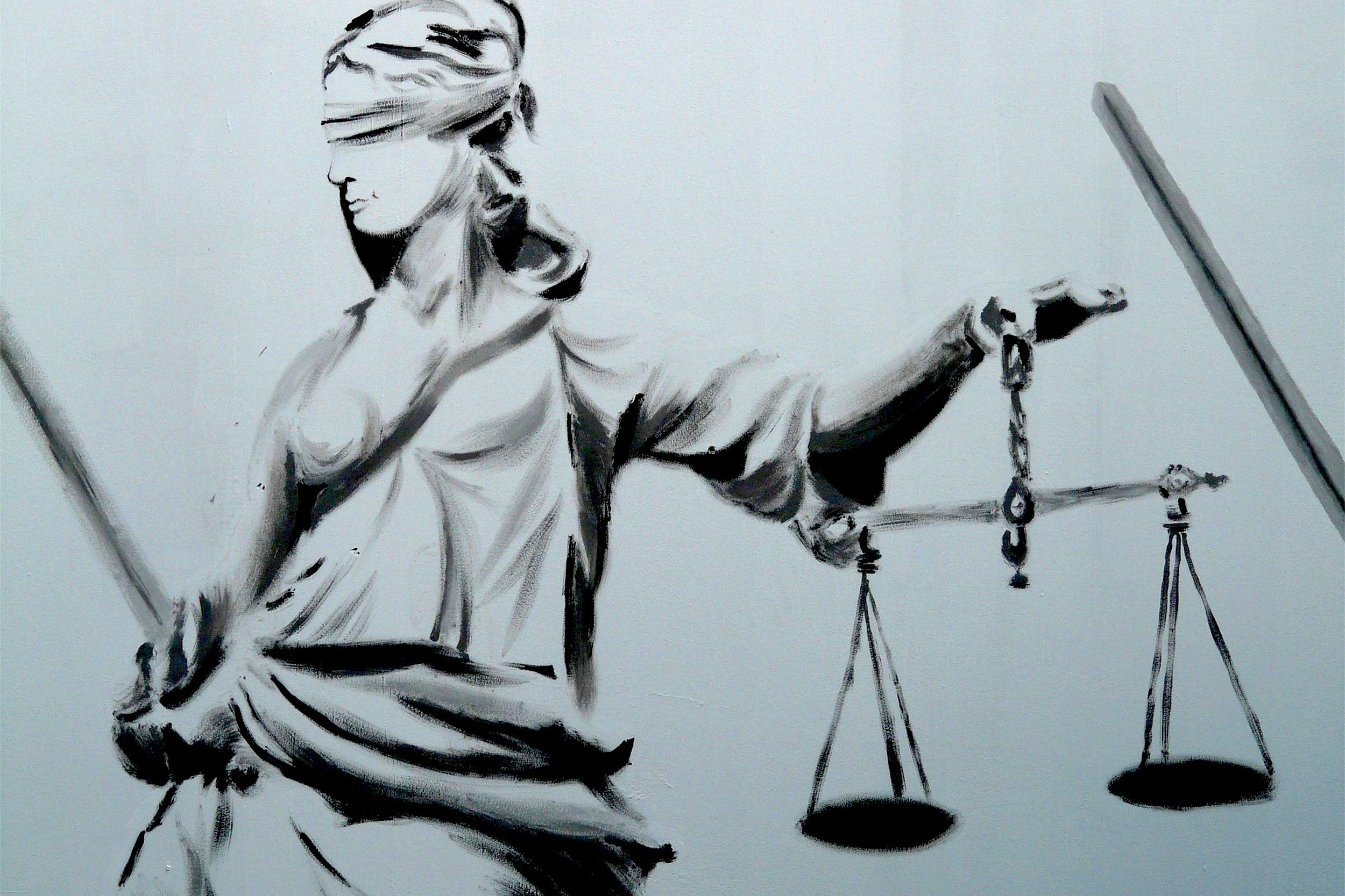 Ilustration scales of justice.