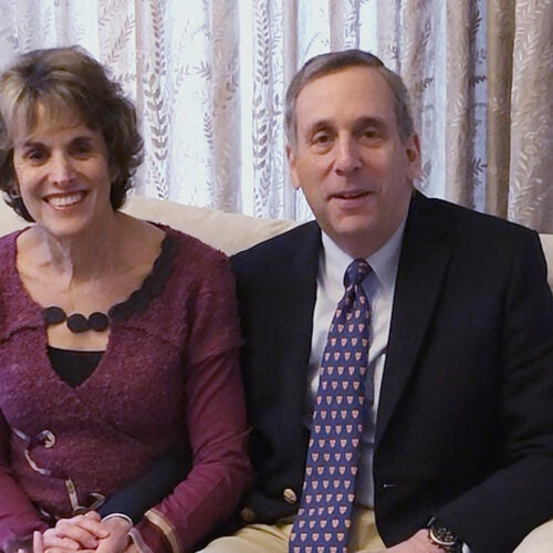 Adele Fleet Bacow and President Larry Bacow.