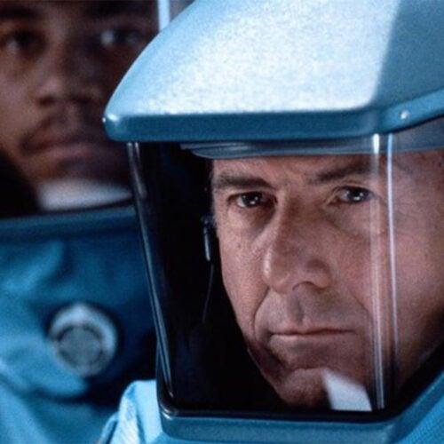 "Dustin Hoffman and Cuba Gooding Jr. in ""Outbreak."""