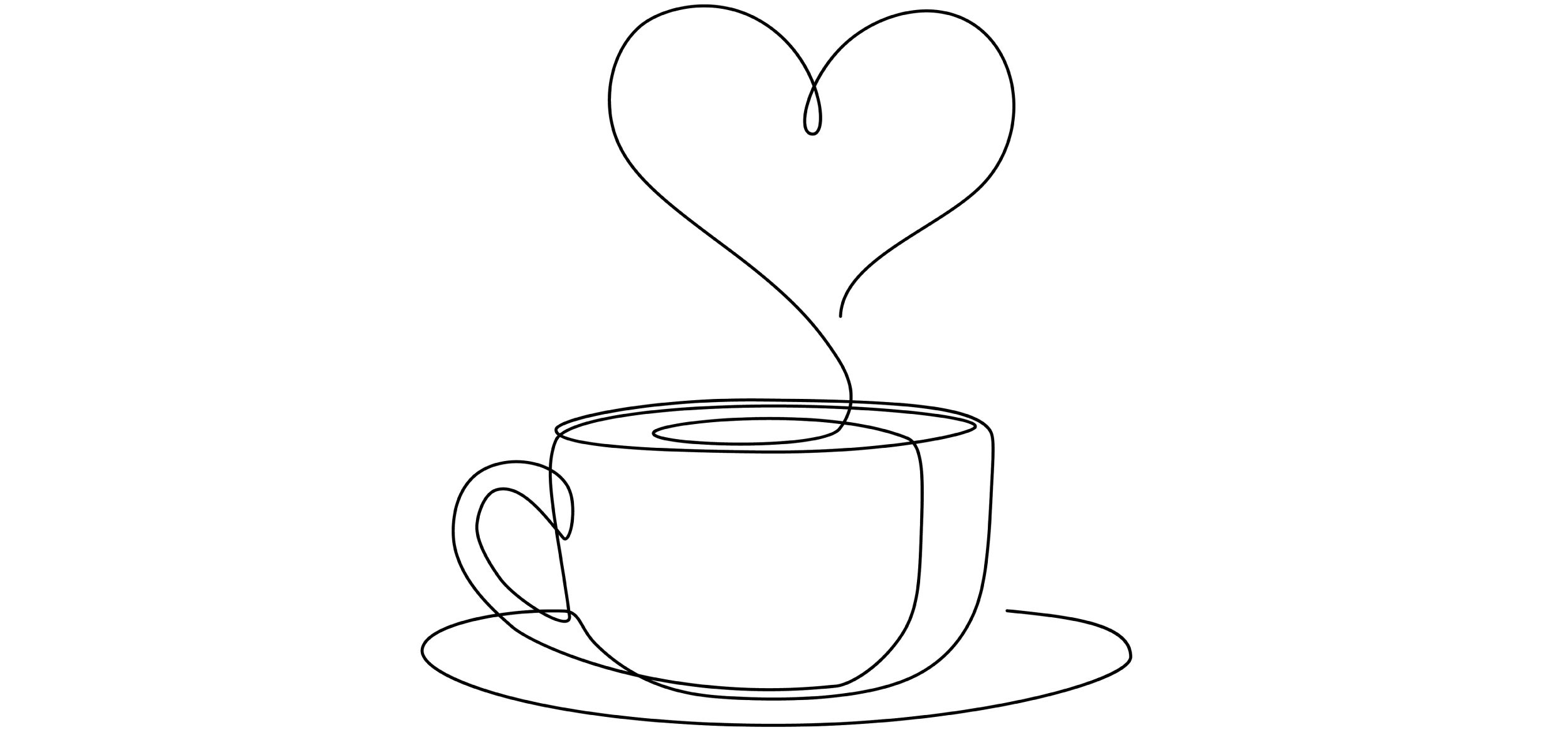 Sketch of coffee cup.