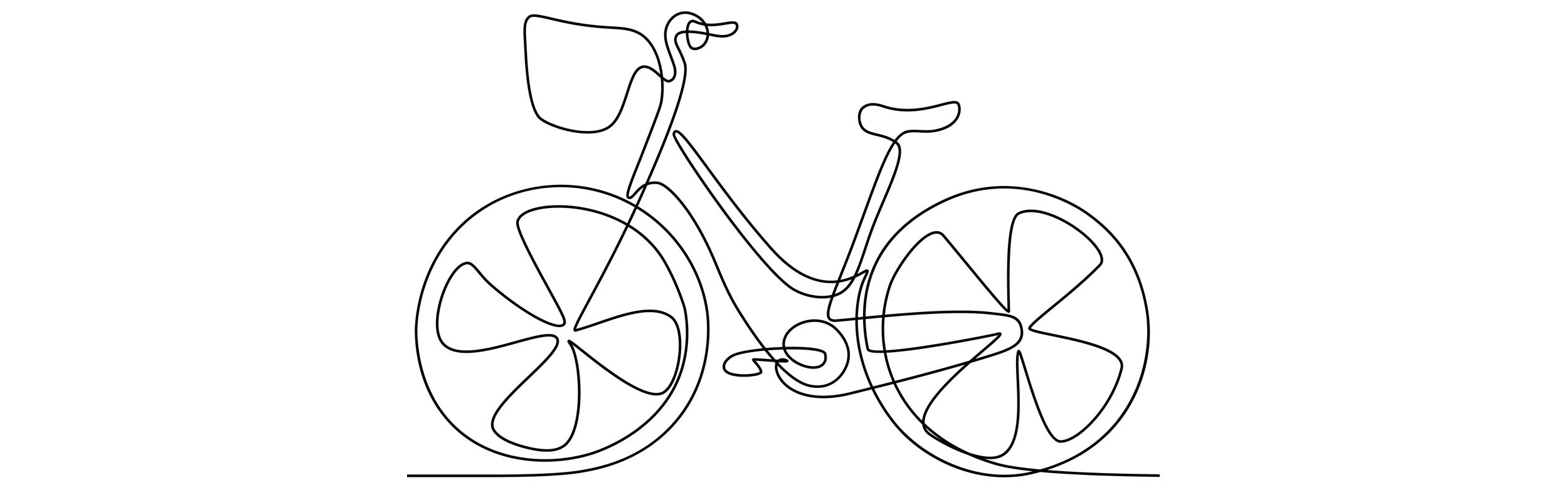 Sketch of a bicycle.