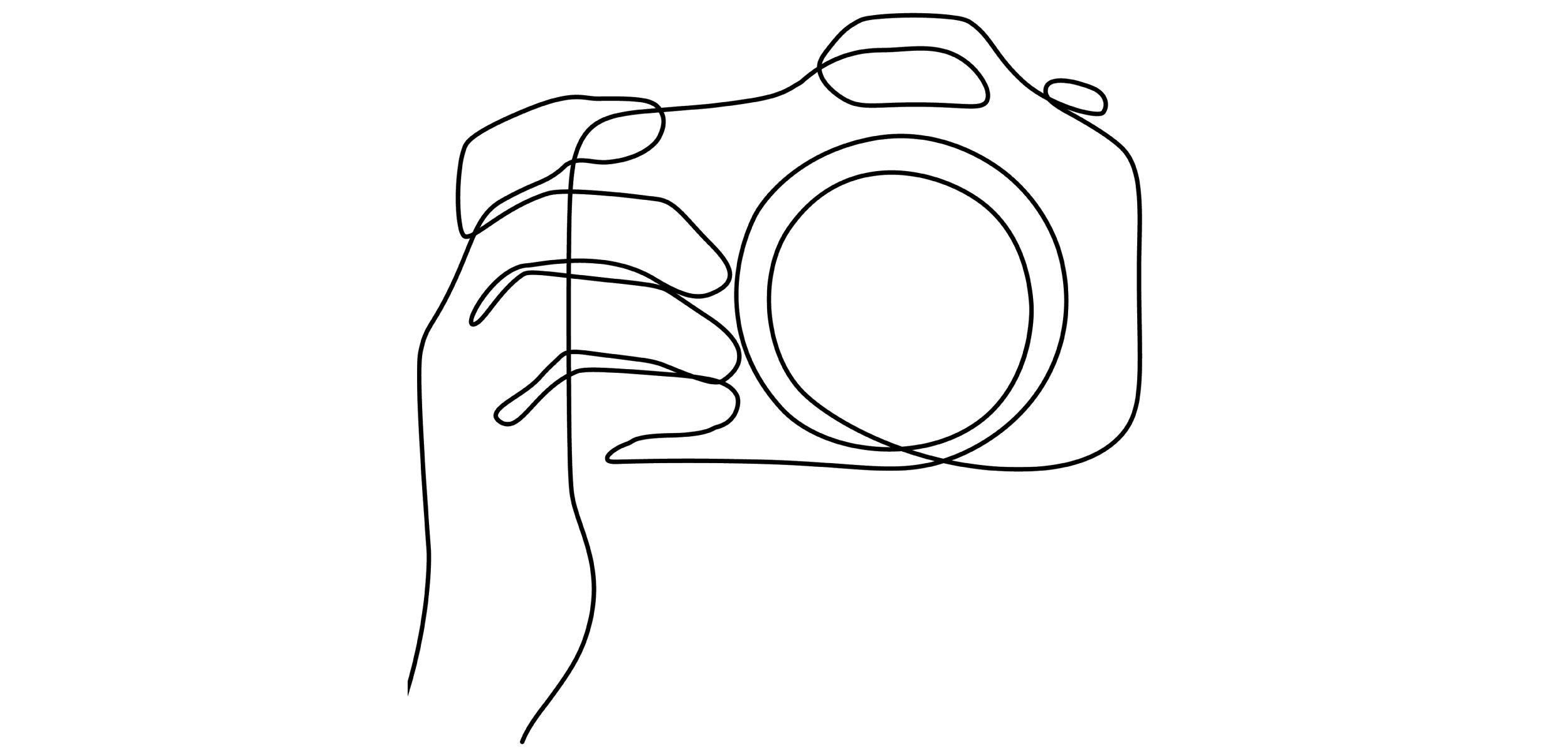 Sketch of a camera.