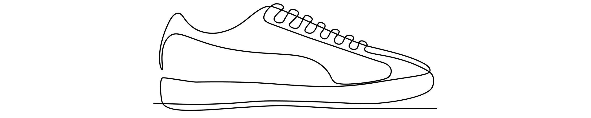 Sketch of sneaker.