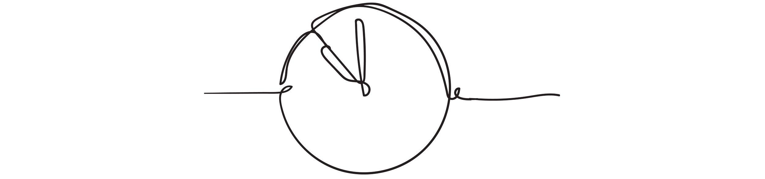 Sketch of a clock.