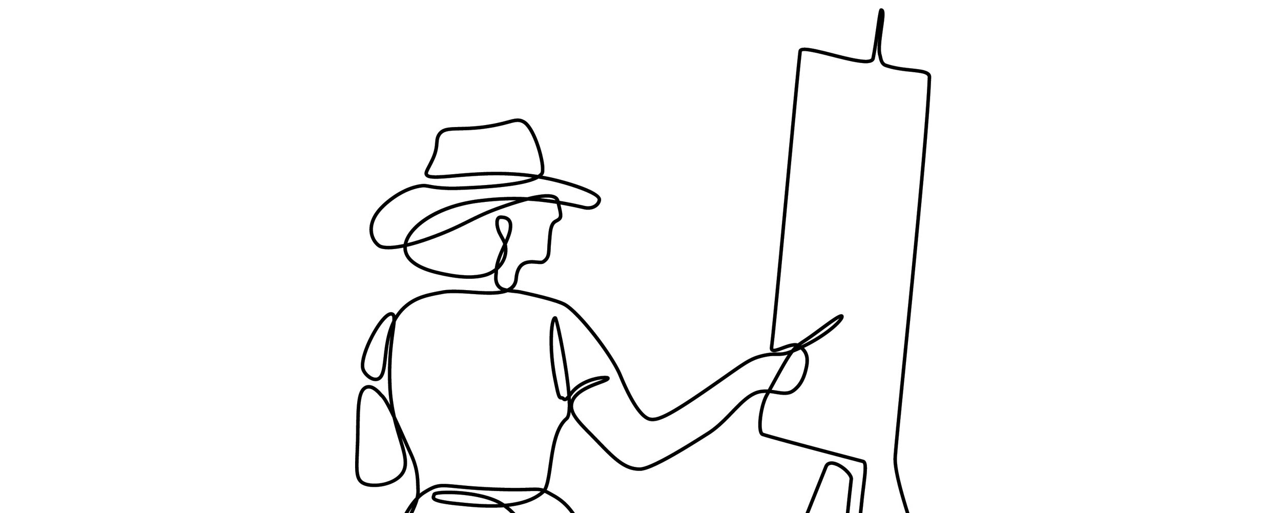 Sketch of a painter.