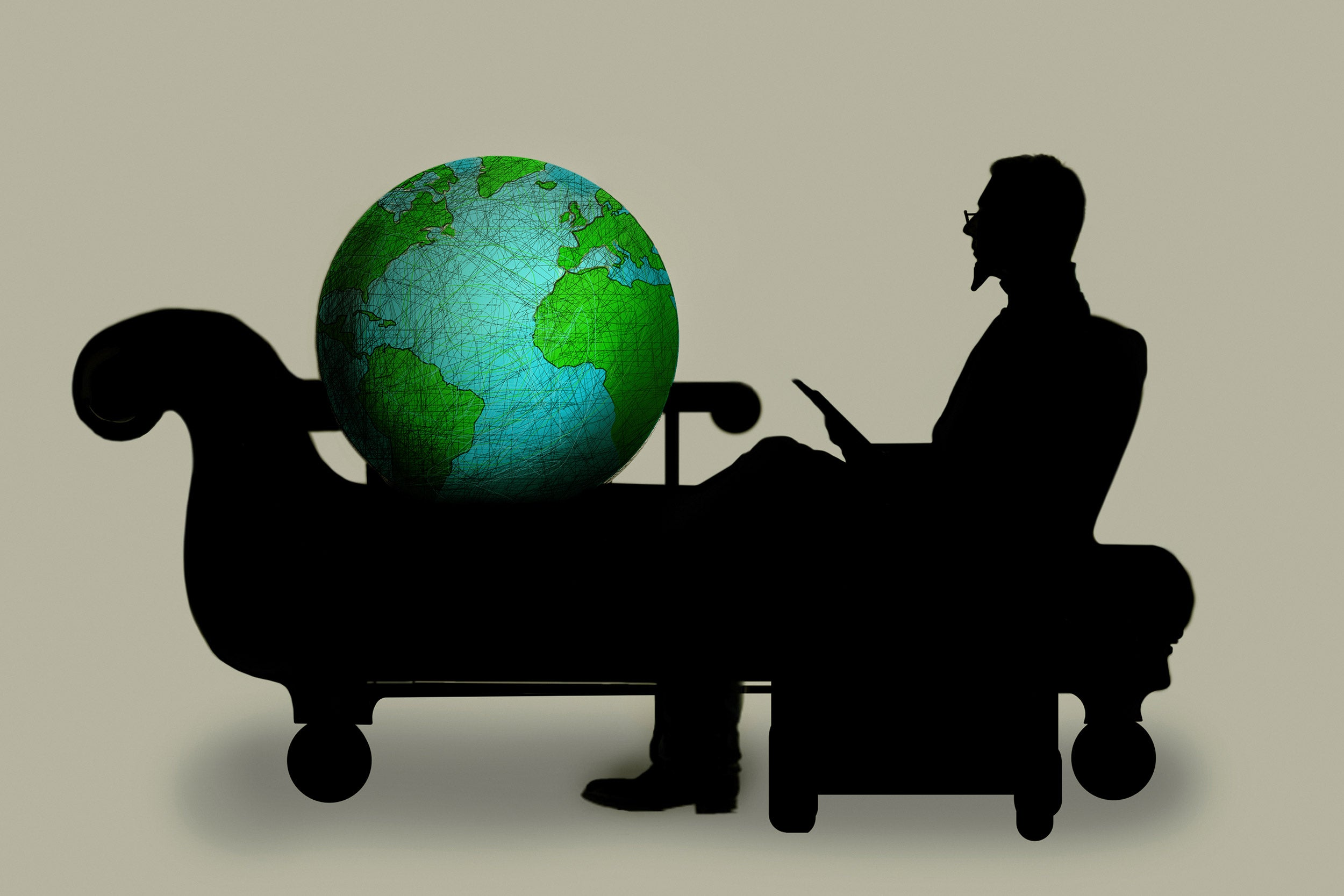 Earth on psychiatrist's couch.