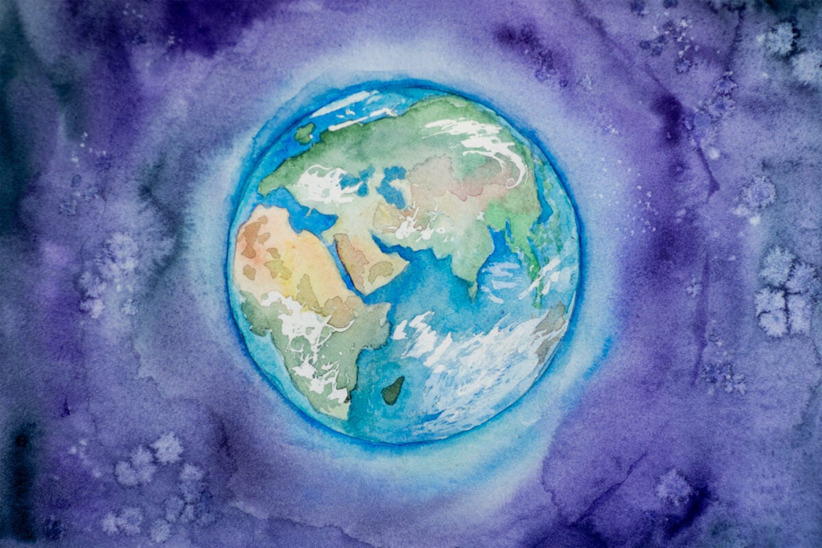 Watercolor of Earth.