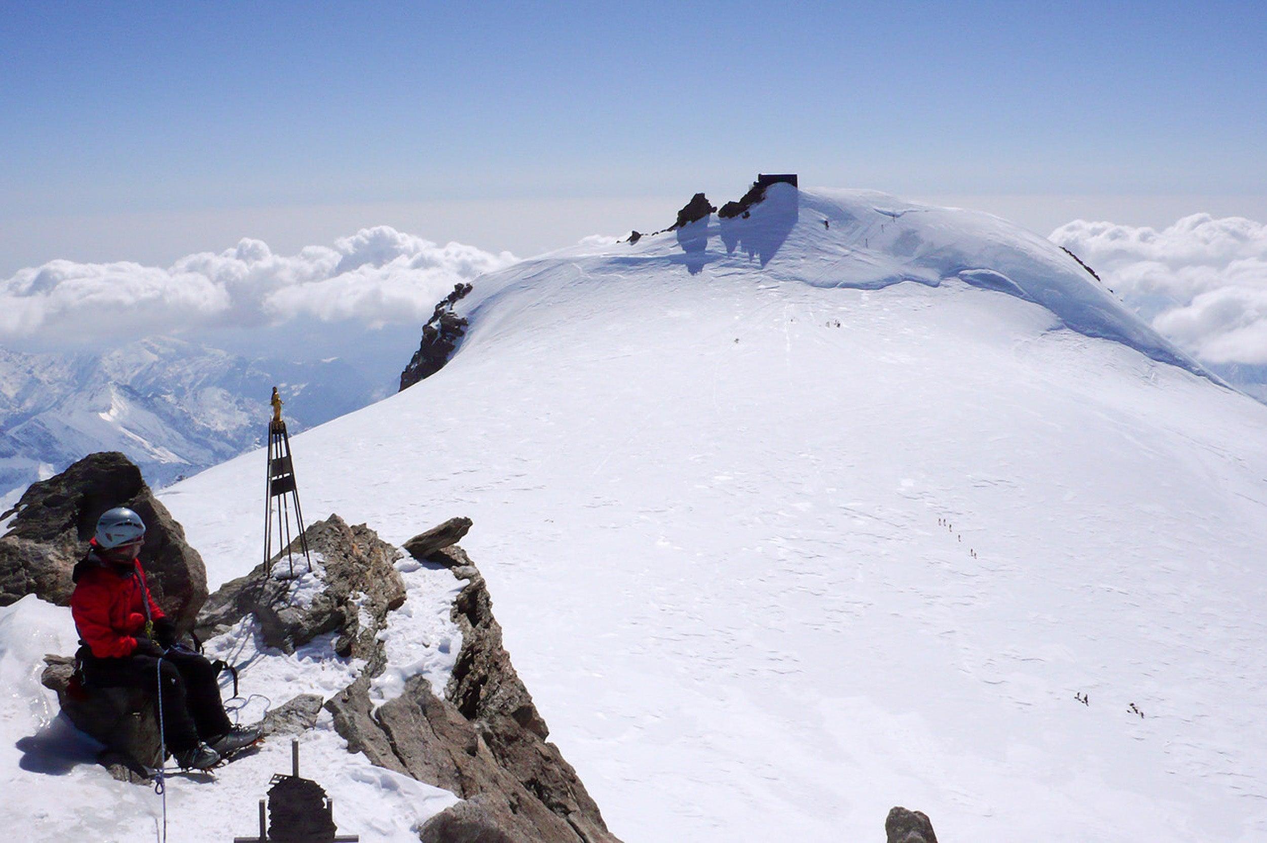 Ice on a mountain.