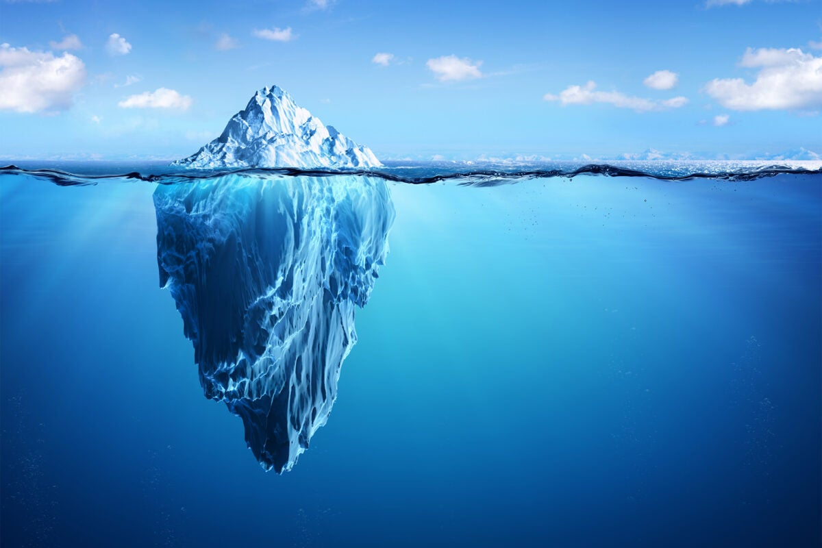 Iceberg in Arctic.