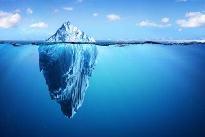 Iceberg in Arctic.