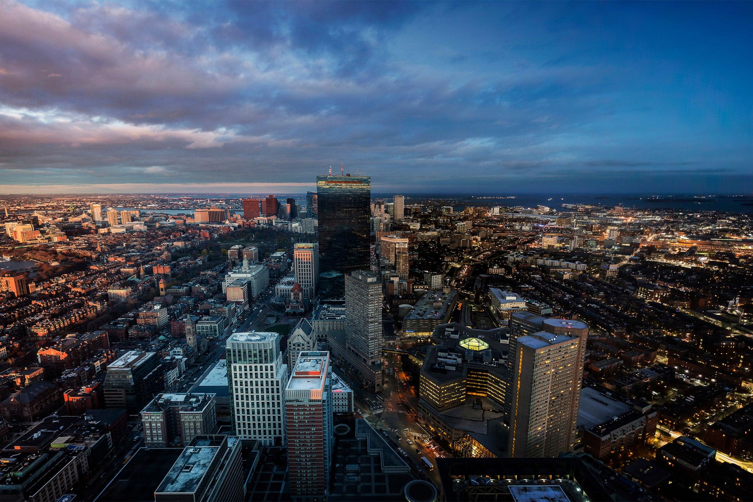 Boston skyline.