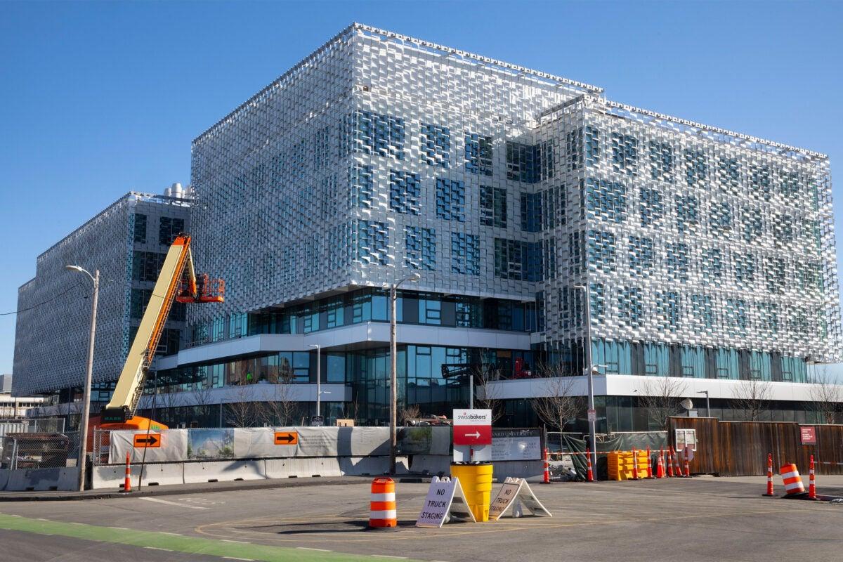 Construction site in Allston.