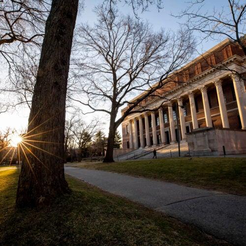 Widener Library at Harvard University.