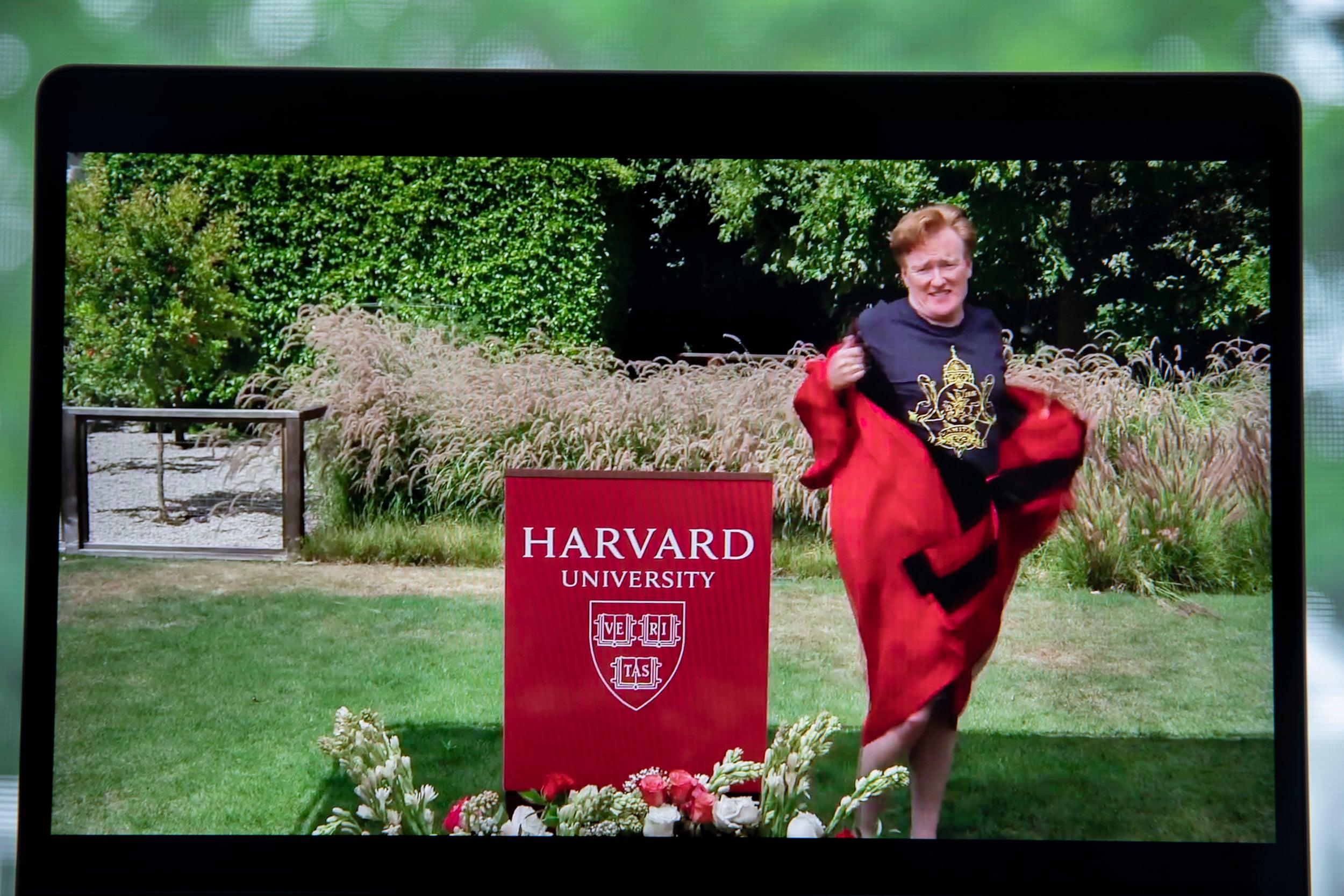 Conan O'Brien addresses Harvard College Class of 2020