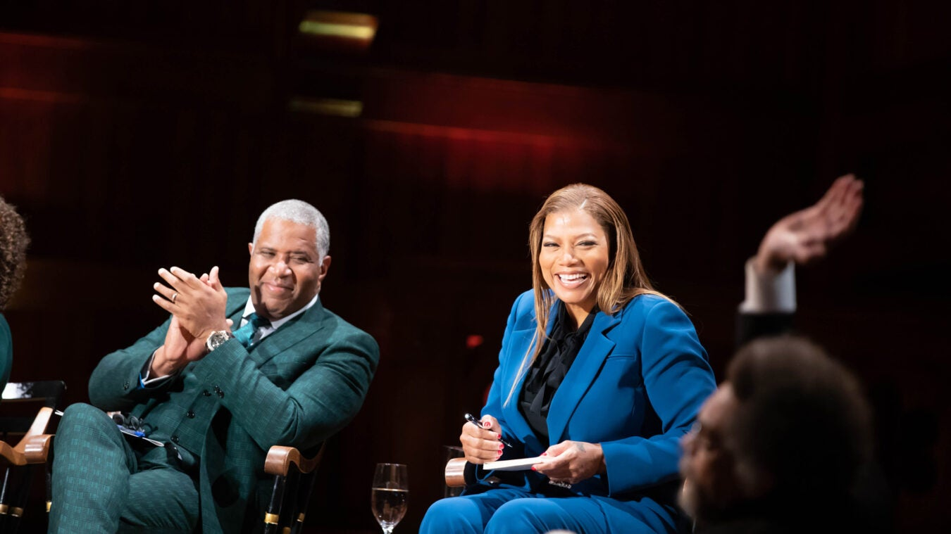 Queen Latifah and Robert F. Smith
