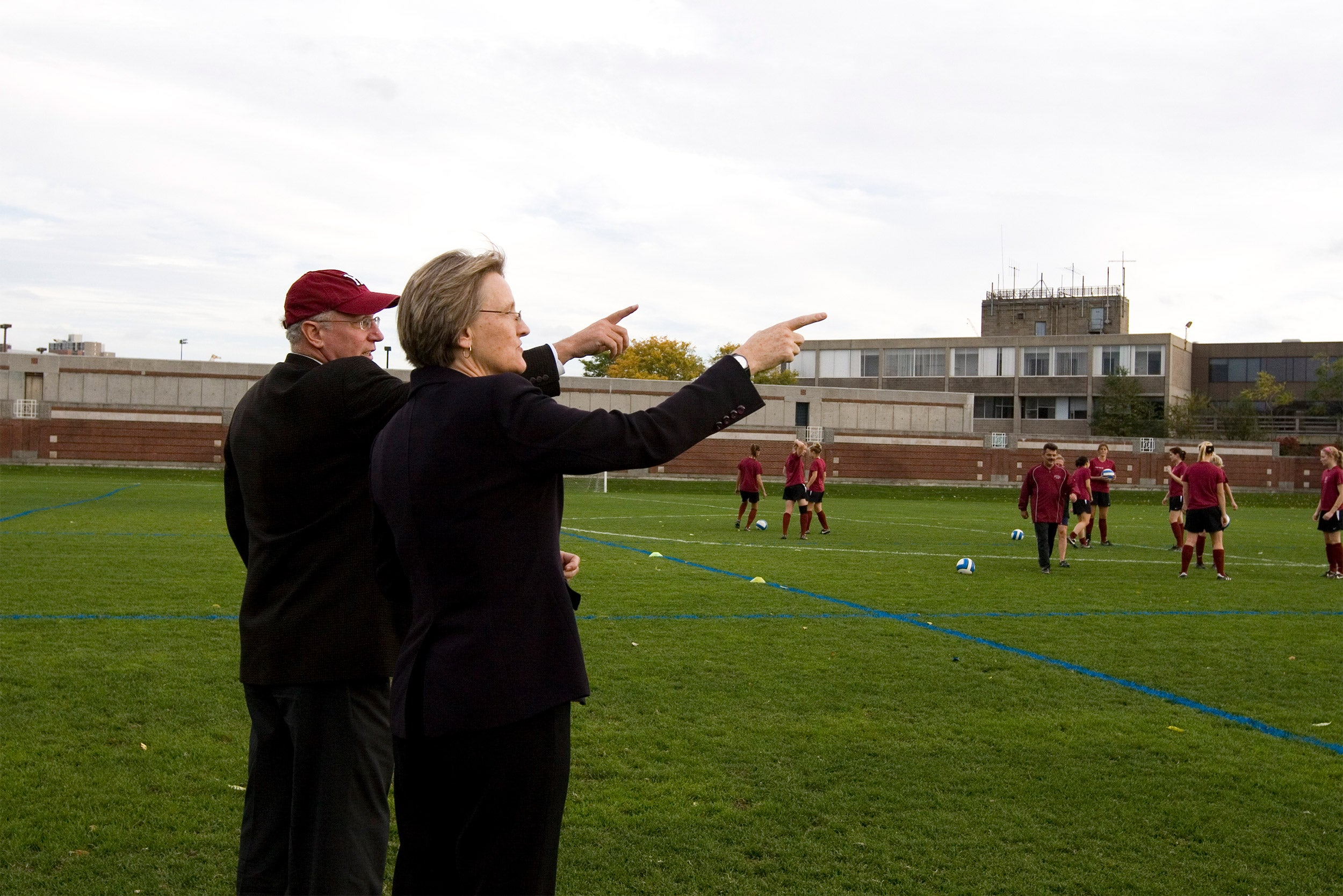 Bob Scalise and Drew Faust.