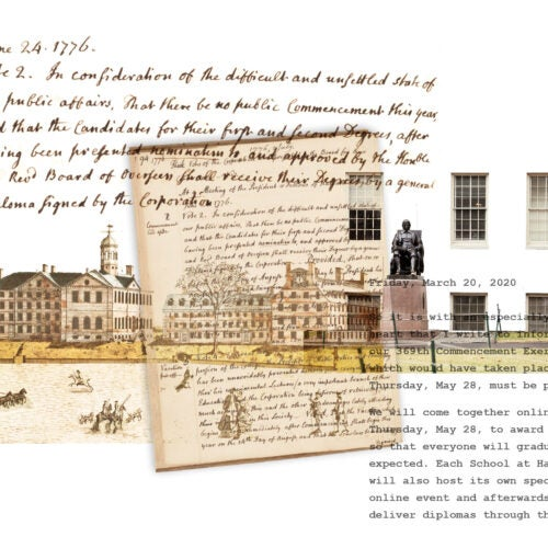 Illustrating Harvard's history.