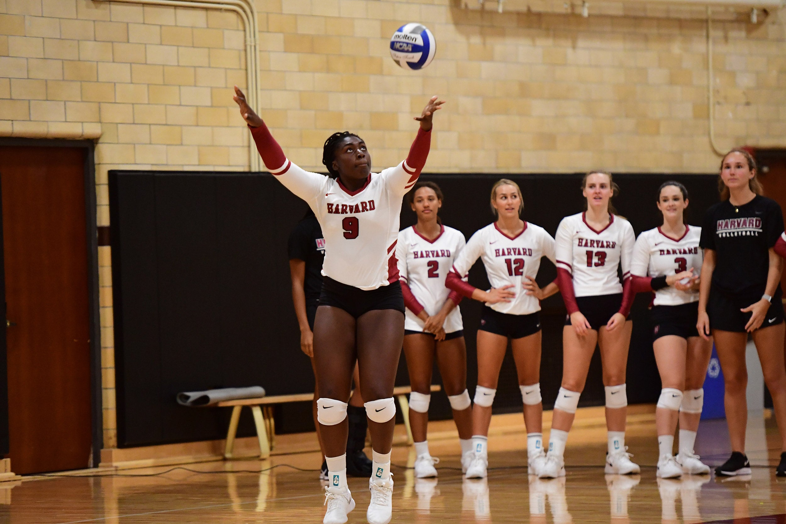 Sopa Adeleye on the volleyball court.