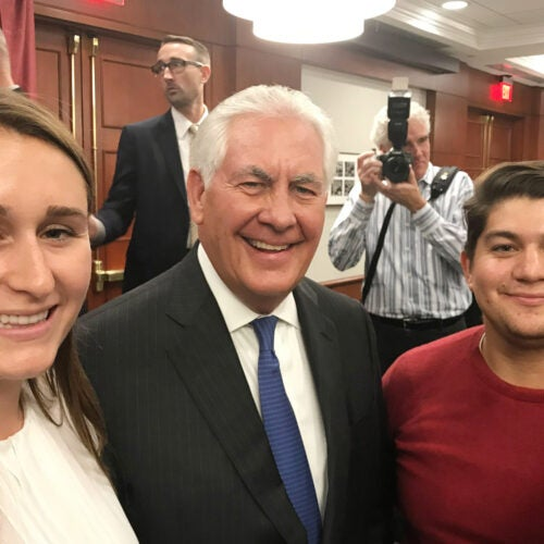 Rex Tillerson with Hainer Sibrian.