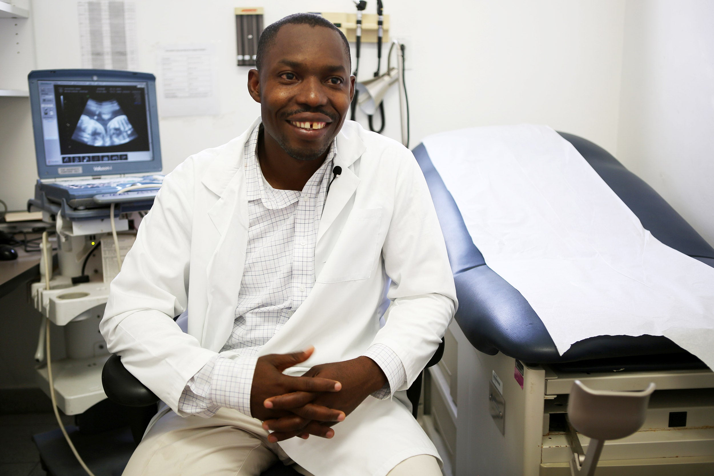 Christophe Millien, an OB/GYN from Haiti.