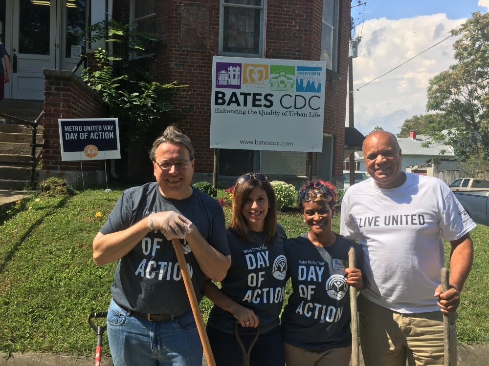 Reno-Weber leads a crew for Metro United Way's Day of Action.