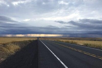 Highway scene.